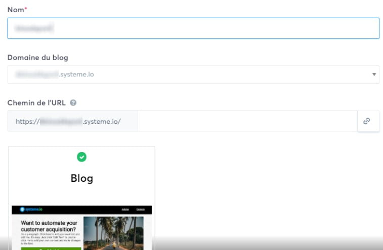 Créer un blog avec Systeme.io