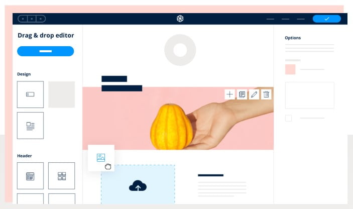 Interface de Sendinblue