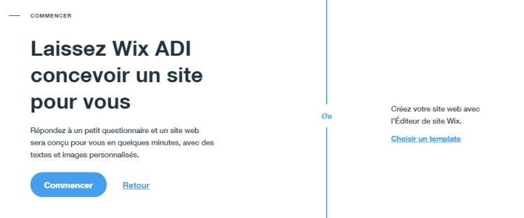 Site internet wix