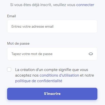 Connexion à Instazood