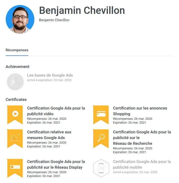 Benjamin Chevillon avis