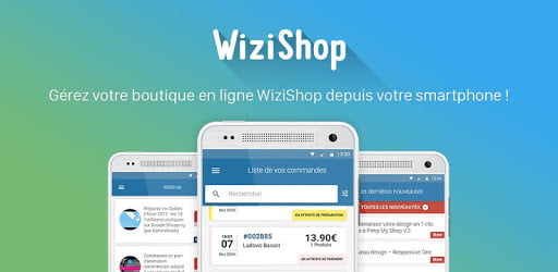 Wizishop sur mobile