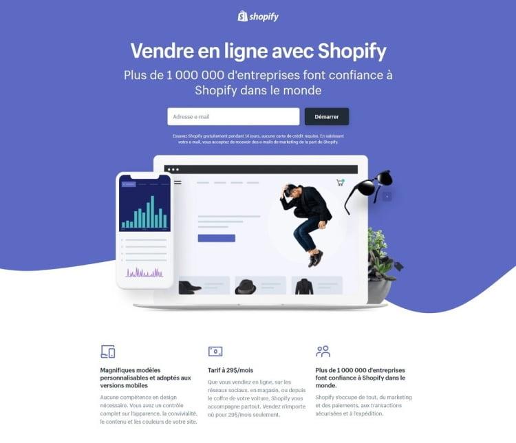 Création d'une boutique en ligne avec Shopify