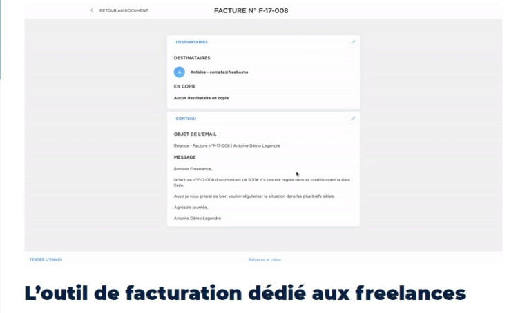 Facture Freebe