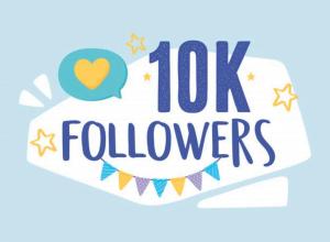 10 000 followers Instagram