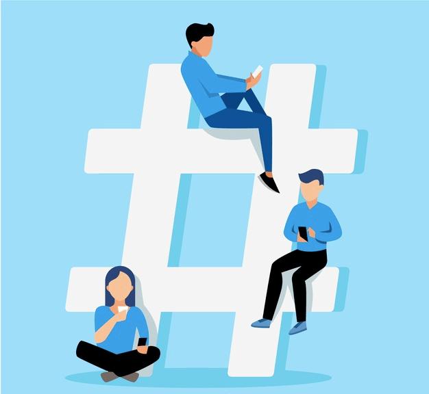 Personnes sur un Hashtag