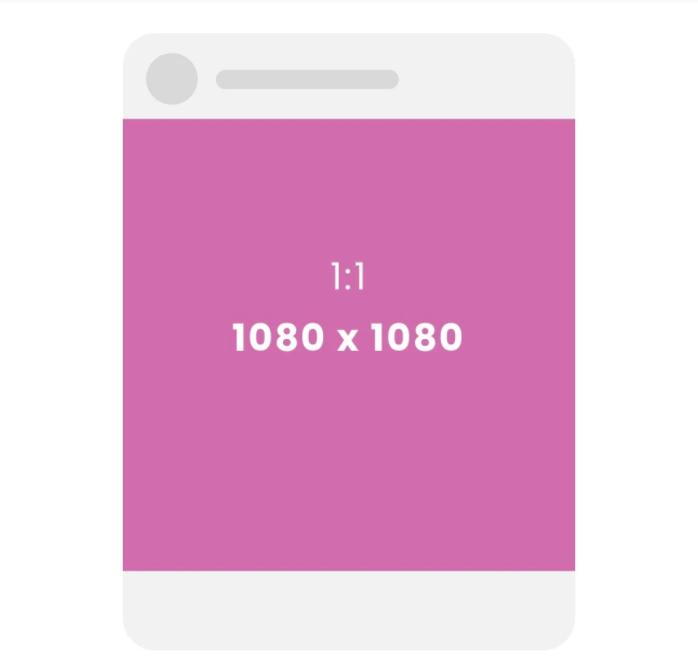 Exemple du format carré sur instagram
