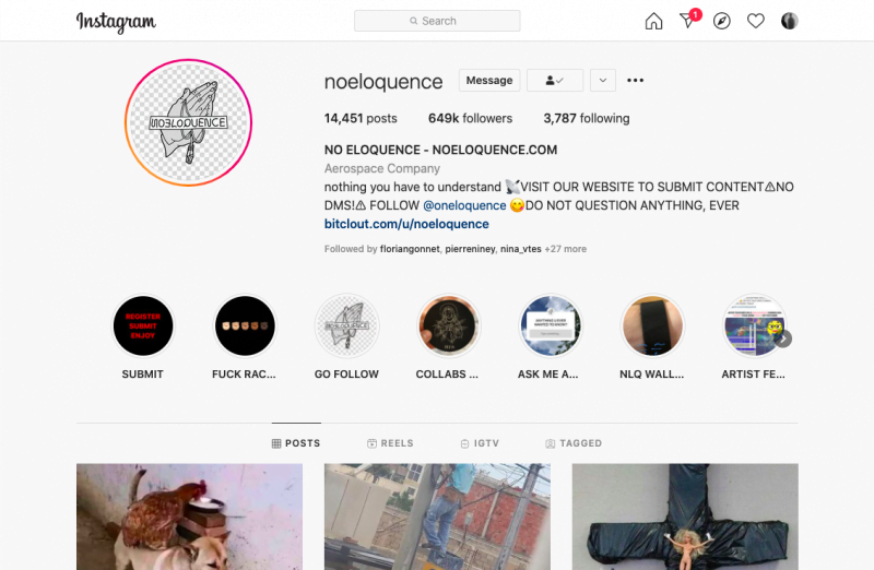 Pseudo Instagram Noeloquence