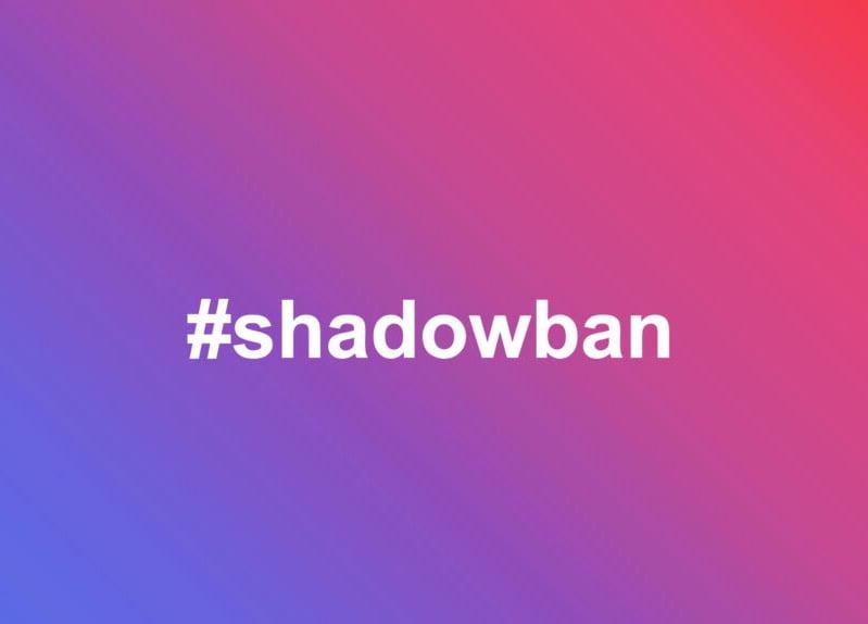 Hashtag shadow banned