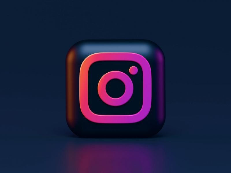 Logo Instagram foncé