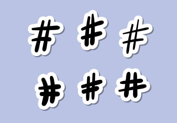 6 Hashtags à la main