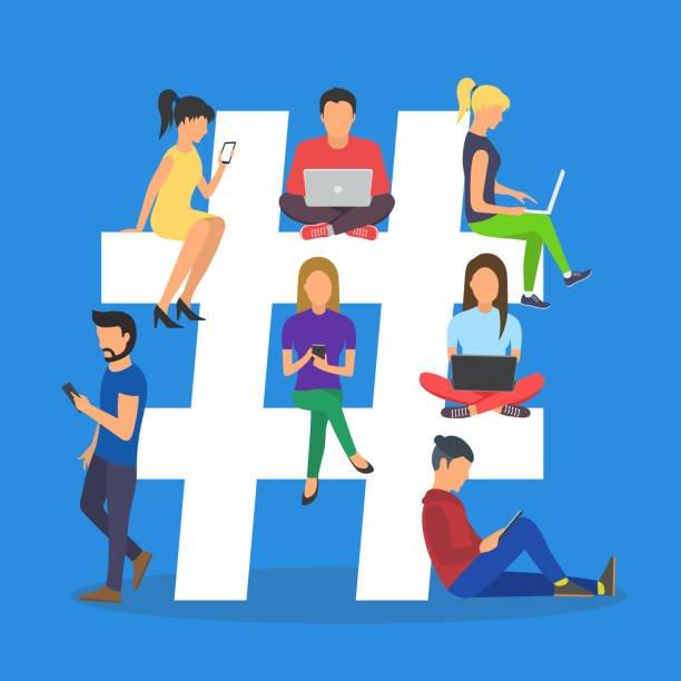 Communauté autour d'un hashtag