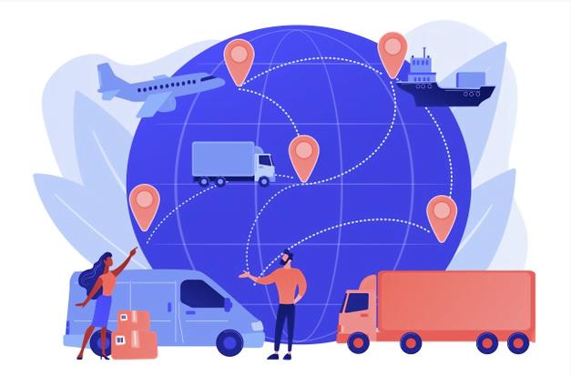Logistique de la livraison Internet