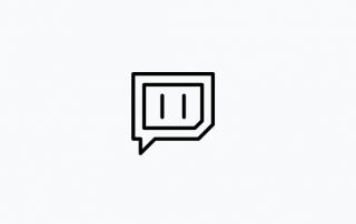 Logo Twitch noir et blanc