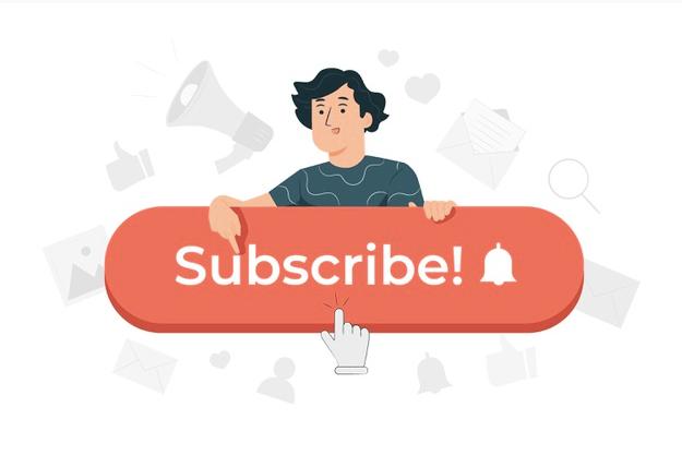 Homme clic sur le bouton subscribe