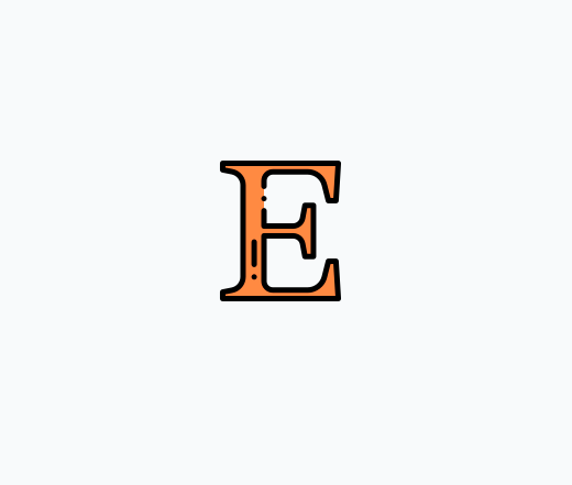 Lettre Logo Etsy Orange