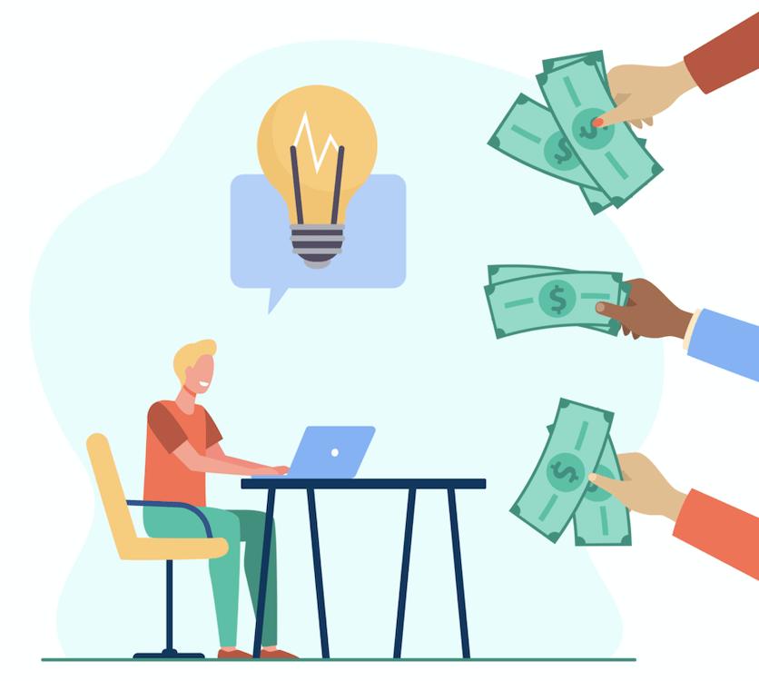 Homme créer des revenus grâce à ses idées